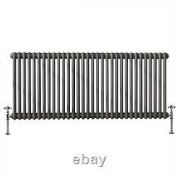 Traditional Radiator Horizontal 2 column Cast Iron Style Anthracite 600x1460 mm