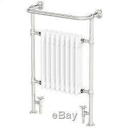 Traditional Victorian Bathroom Heated Towel Rail Radiator White/Chrome 952x659mm