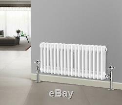 Traditional White Cast Iron Style Radiator 300mm Horizontal 2 Column Designer