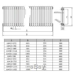 Traditional White Horizontal Radiator 2 Column Cast Iron Central Heating Rads