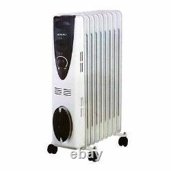 Ultramax Freestanding 9 Fin Oil-Filled Radiator 2000W