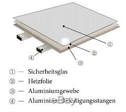VIESTA Glas Spiegel Infrarotheizung, Carbon Crystal Technologie Elektroheizung
