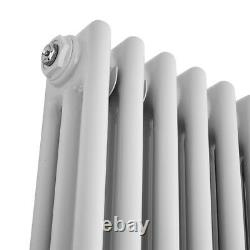 Vertical 3 Column Traditional Radiator White 1800 x290mm Cast Iron Style