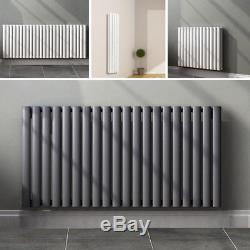 Vertical Design Radiator Oval Column Tall Upright Home Central Heating Radiators