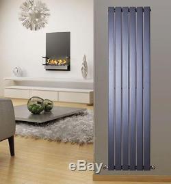 Vertical Designer Flat Panel Column Radiator Central Heating Anthracite Rad x