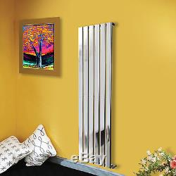 Vertical Designer Flat Panel Radiators Central Heating Anthracite White Chrome
