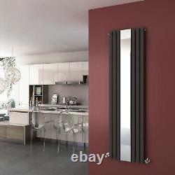 Vertical Designer Mirror Anthracite Radiator Oval Column Panel Tall Rad 1800x500