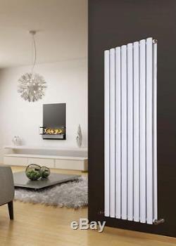 Vertical Designer Oval Double Column Radiator Bathroom Central Heating White z