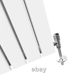 Vertical Designer Radiator 1600 x 452mm White Double Flat Panel Heating Rads