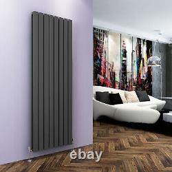 Vertical Designer Radiator 1800 x608mm Anthracite Double Flat Panel Heating Rads
