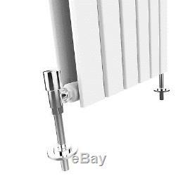 Vertical Designer Radiator Column Tall Upright Central Heating 1800x452mm White