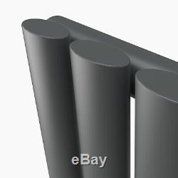 Vertical Designer Radiator Oval Column Tall Central Heating Radiators&Valves