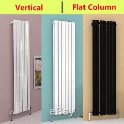 Vertical Designer Radiator Tall Upright Central Heating Oval & Flat Radiators UK