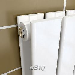 Vertical Designer Radiators Flat Column Double Panel 1600x452mm Central Heating