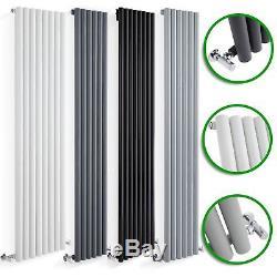 Vertical Designer Radiators Round Column Panels Tall Upright Central Heating UK