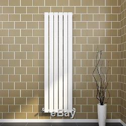 Vertical Designer White Flat Panel Oval Column Panel Central Heating Radiator