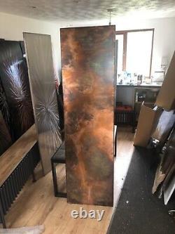 Vertical Distressed Copper Designer Radiator 500/1800 3300btu Made To Order