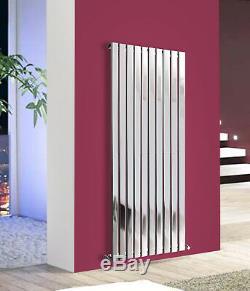 Vertical Flat Panel Designer Modern Chrome Bathroom Central Heating Radiator