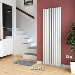 Vertical Horizontal Designer Radiator White Oval Column Panel Central Heating UK