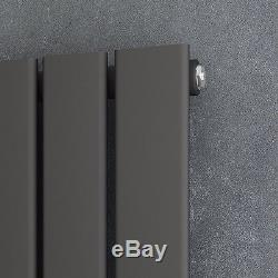 Vertical Horizontal Radiator Anthracite Flat Column Tall Upright Central Heating