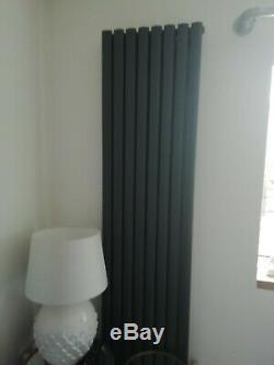 Vertical Horizontal Radiator Designer Oval Column Central Heating Anthracite