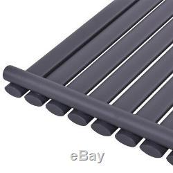 Vertical Radiator Flat Single 8 Panel Designer Column Central Heating Anthracite