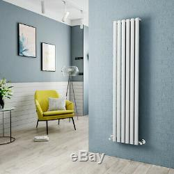 Vertical Radiator Oval Column Panel Rad Central Heating White Designer Bathroom