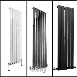 Vertical Tall Column Designer Radiator Central Heating White Sand Grey Chrome