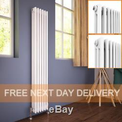 Vertical Traditional Column White Cast Iron Style Radiator Central Heating Rads