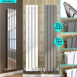Vertical Upright Flat Panel Designer Radiator and Valves Central Heating
