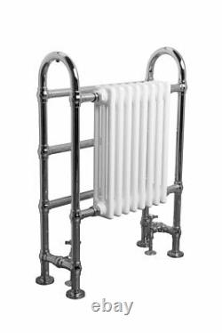 Victorian Style Bathroom Double Heated Towel Radiator Rail 904 x 674 mm White
