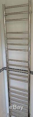 Water Fed Central Heating 100% Stainless Steel Towel Radiator, 1600mm x 320mm