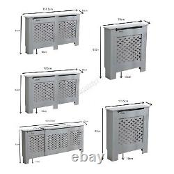 WestWood Radiator Cover White Or Grey Wooden Radiator Wall Shelves Cabinet
