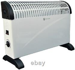 White 2kW Floor Standing & Wall Mounted Home & Office Convector Radiator Heater