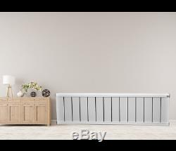 White Aluminium Designer Radiator Heater Warmer Central Heating Flat Panel