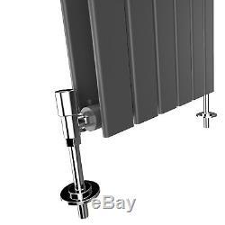 White & Anthracite Horizontal Designer Flat Panel Radiators Central Heating Rads