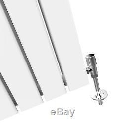 White Designer Central Heating Radiator Vertical Flat Panel Double 1800x452 mm
