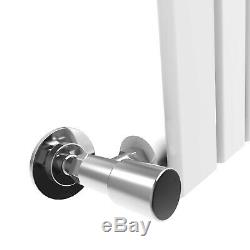 White Designer Central Heating Radiator Vertical Flat Panel Single 1800x608 mm