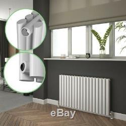 White Designer Radiator Oval Column Tall Upright Central Heating Radiators UK