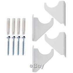 White Double Flat Panel Horizontal Heating Rails 600 x 1216mm Radiator Central