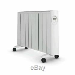 White Eco Green Energy Efficient Ceramic Heater Radiator Digital Control 2000W