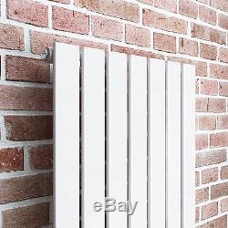 White Flat Panel Vertical Designer Radiator 1600 x 532mm Central Heating
