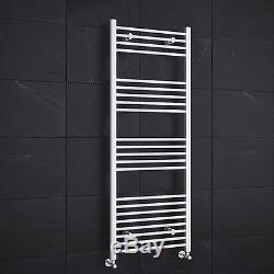 White Heated Towel Rails Modern Bathroom Straight Central Heating Rad Radiator
