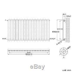 White Horizontal Designer Flat Panel Radiators Columns Central Heating Rads