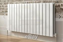 White Horizontal Flat Panel Column Designer Radiator Modern Central Heating Rads