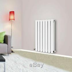 White Oval Column Designer Radiator Elegant Vertical Horizontal Central Heating