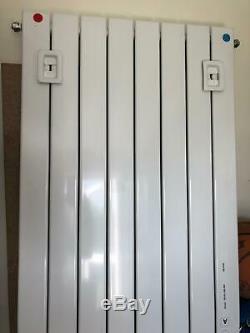 White Oval Column Designer Radiator Vertical Central Heating RRP £300