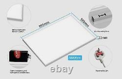 White Ultra Slim Infrared Heating Panel Electric Heater Radiator Wall Mount 580W