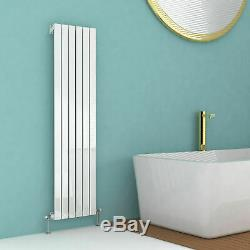 White Vertical DESIGNER Radiator 1800 X 480mm Bouble Central Heating Panel