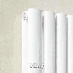 White Vertical Designer Radiator Oval Column Rad Single / Double Central Heating